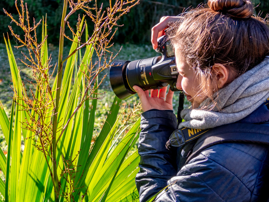adolescente photographie le jardin des Plantes